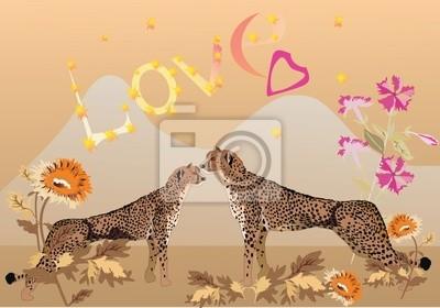 par de leopardos