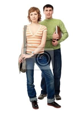 pareja de estudiantes