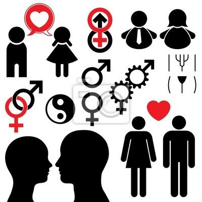 Pareja El Hombre Y La Mujer Símbolo Pinturas Para La Pared Cuadros