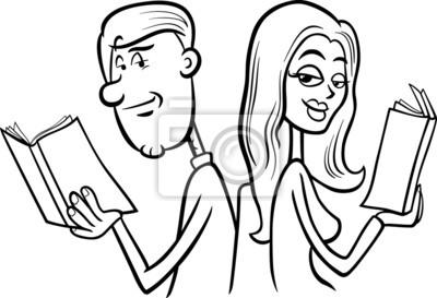 Cuadro Pareja En El Amor Para Colorear De Dibujos Animados