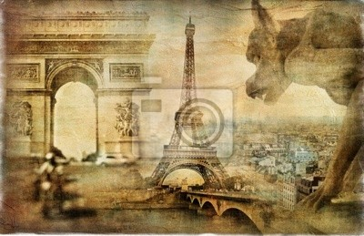 París que sorprende - artístico collage retro