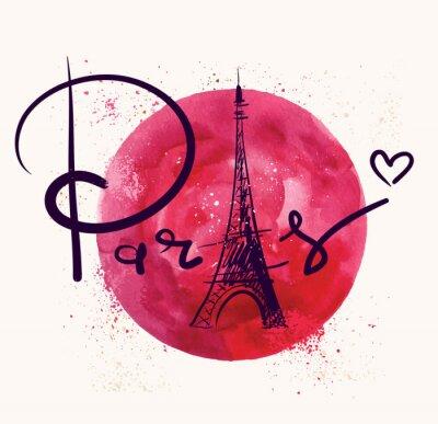 Cuadro París y círculo rojo