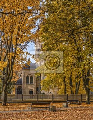 Parque otoñal colorida, Dubulti, Letonia