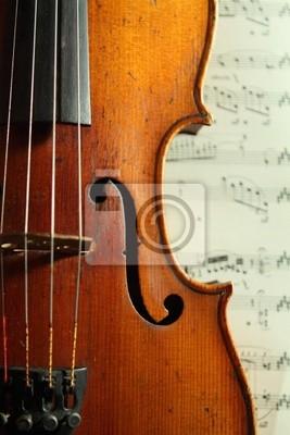 parte de un violín antiguo