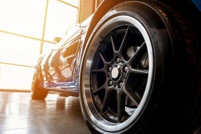 Cuadro Parte posterior de un coche deportivo azul genérico