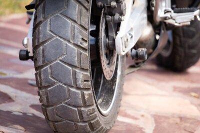 Cuadro partes de metal en una motocicleta