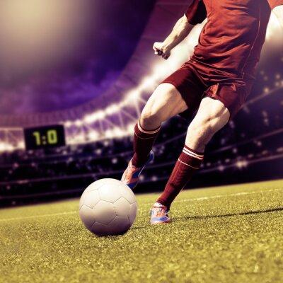Cuadro partido de fútbol