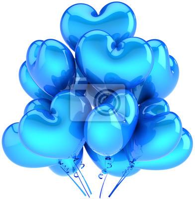 Partido de globos en forma de corazón azul cian. Decoración Boyfriend