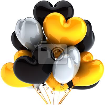 Partido de globos en forma de corazón cumpleaños festejo decoración
