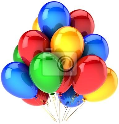 Partido de globos hermosa decoración multicolor. Felices fiestas