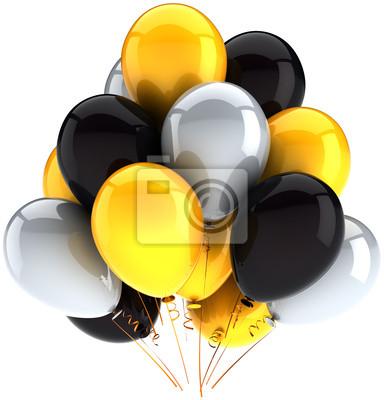 Partido globos cumpleaños decoración multicolor amarillo, blanco, negro