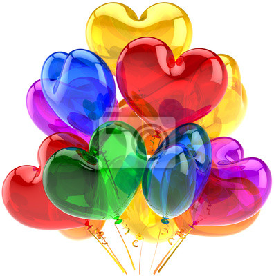 Partido globos decoración de cumpleaños en forma de corazón translúcido