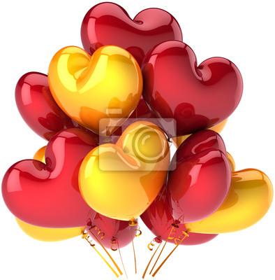 Party balloons heart shaped birthday celebration Love decoration