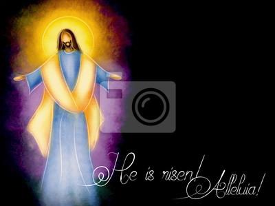 Pascua Resurrección Religiosa De Fondo El Señor Jesús Resucitado