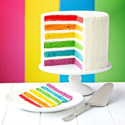 Cuadro Pastel de capas del arco iris