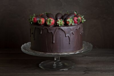 Cuadro pastel de chocolate