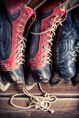 Cuadro Patines de hockey vintage