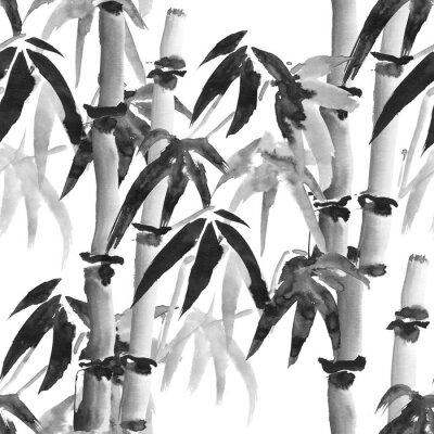 Cuadro Patrón de bambú