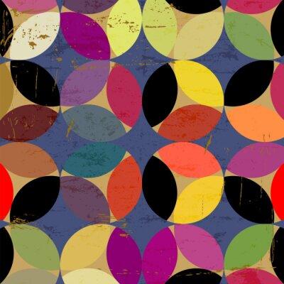 Cuadro patrón de círculo abstracto