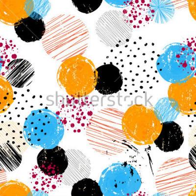 Cuadro Patrón de fondo transparente, con círculos / puntos, trazos y salpicaduras