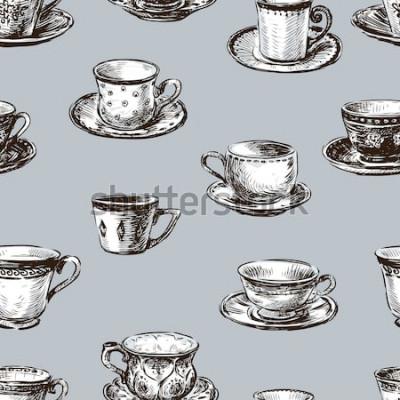Cuadro patrón de las tazas de té