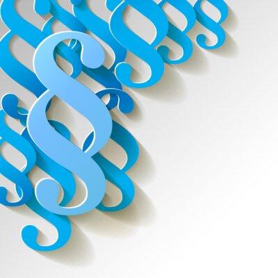 Cuadro Patrón de papel Cláusula fondo azul