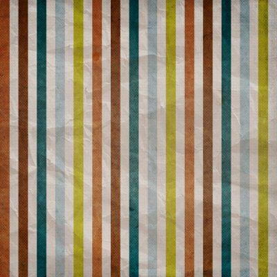 Cuadro Patrón de rayas retro - fondo con color marrón, azul, gris