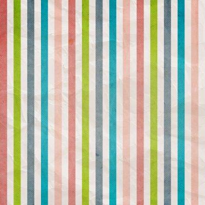 Cuadro Patrón de rayas retro - fondo con color rosa, cian, gris,
