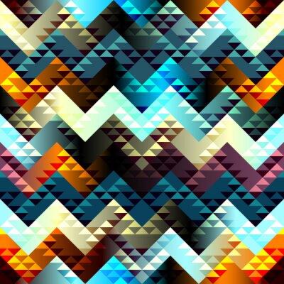 Cuadro Patrón en el estilo aztecas en chevron fondo.