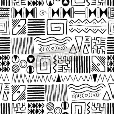Cuadro Patrón étnico africano - fondo del arte indígena. Diseño del estilo de África.