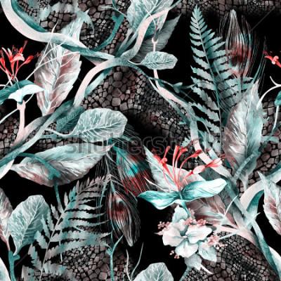 Cuadro Patrón floral sin fisuras