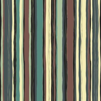 Cuadro Patrón retro abstracto de las rayas de los colores. Líneas dibujadas a mano sin costuras