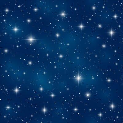 Cuadro Patrón sin fisuras con estrellas brillantes