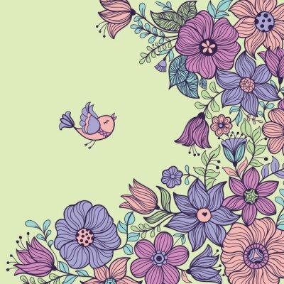 Cuadro Patrón transparente floral de la vendimia. Ilustración del vector.