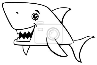 Cuadro Peces De Tiburón Para Colorear