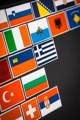 Cuadro Pegatinas de la bandera de país