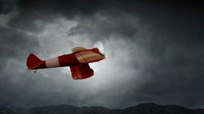 Cuadro Peligro de accidente de avión. Medios mixtos