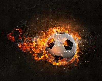 Cuadro Pelota ardiendo en el fuego
