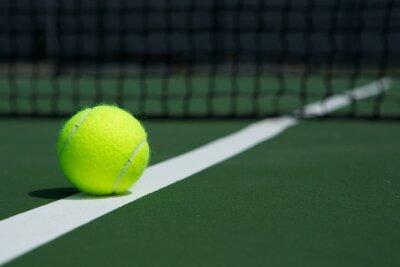Cuadro Pelota de tenis con la red en el fondo