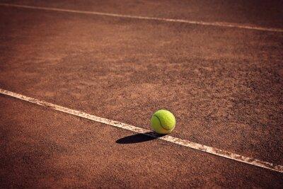 Cuadro Pelota de tenis en la línea