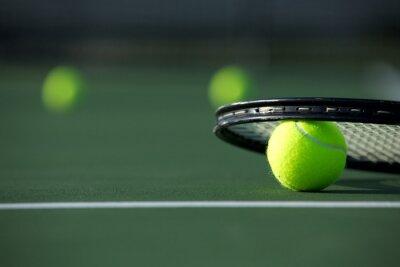 Cuadro Pelota de tenis y raqueta