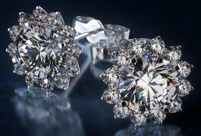 Cuadro Pendientes diamante
