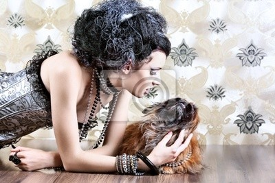 Perro y mujer