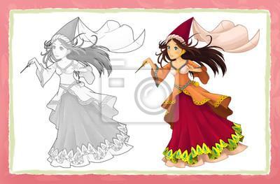 Personaje De Cuento De Hadas De Dibujos Animados Princesa