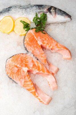 Cuadro Pescado y salmón de caballa entera