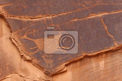 Petroglifos en el valle del monumento