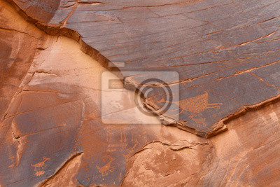 Petroglyph en Monument Valley