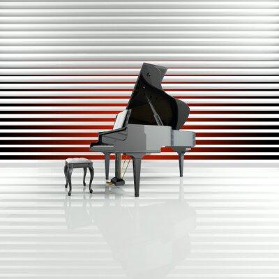 Cuadro Piano, Flügel, Bühne, Estrella, Talento