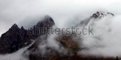 Cuadro Picos irregulares de la cordillera Teton en el este de Wyoming