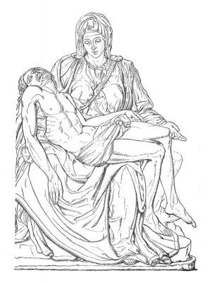 Cuadro Pieta - Michel-Ange